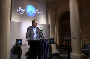 Olov Amelin, director of the Nobel Museum during his opening speech.
