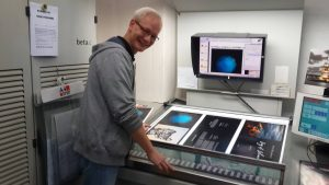 Rico Besserdich during the printing of Song of Silence.