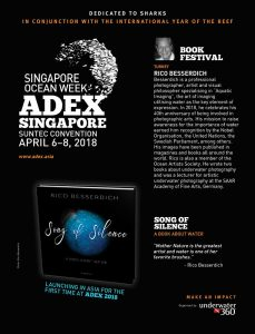 Announcement of the book release in Asia. ADEX Singapore.