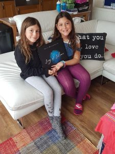 The 2 youngest word contributors (5 & 8 years young) to the book.
