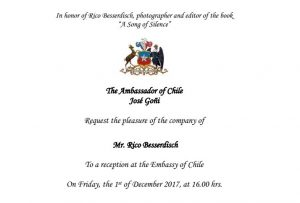 The embassy of Chile honored Rico Besserdich with a special event.