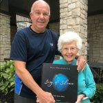 96 year young Raida Snyderman, mother of EMMY award winner Marty Snyderman and her signed copy of Song of Silence.